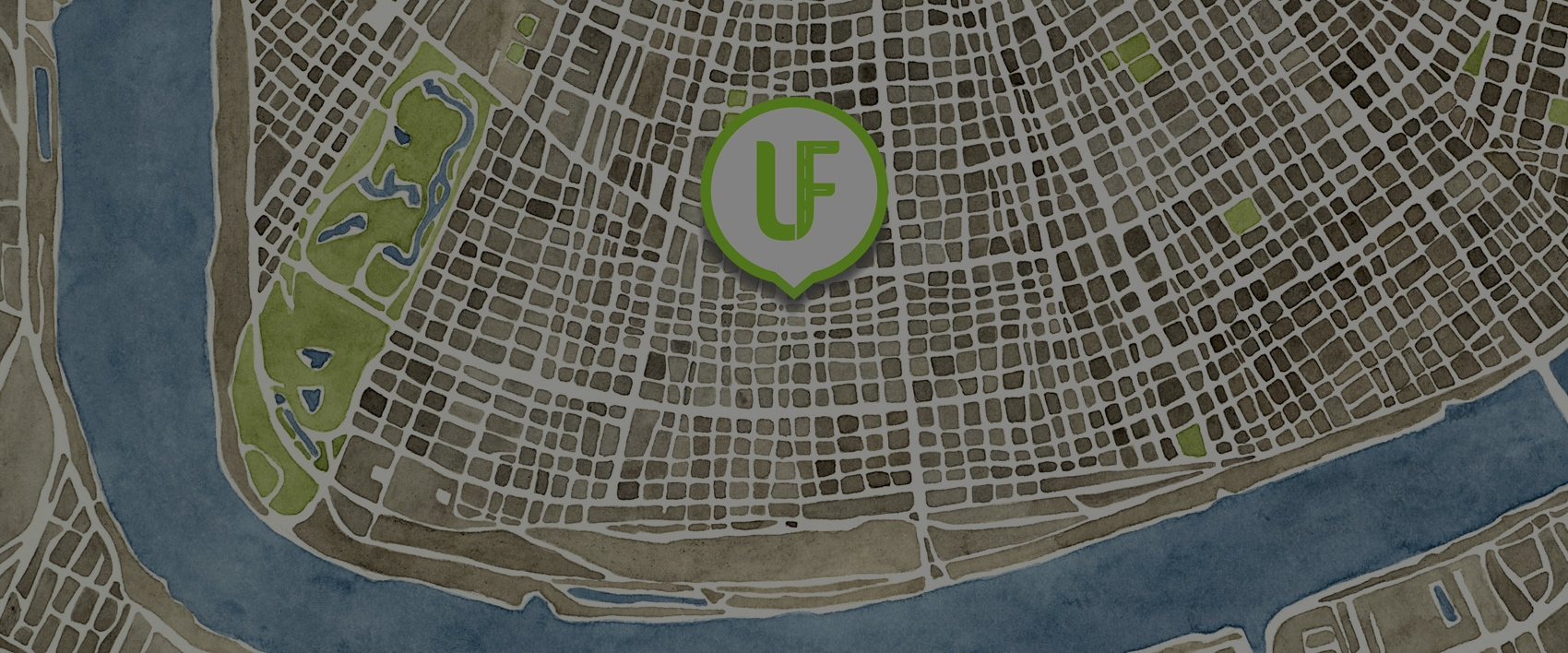 New Orleans Map UF Logo Cropped
